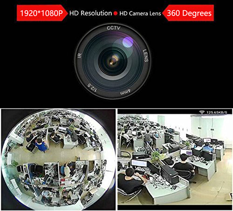 Panoramic lte 960P wireless IP Fisheye 3g cam 360 Degrees hd 4g dome camera