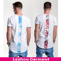 extended men's t shirt, back printed t shirt