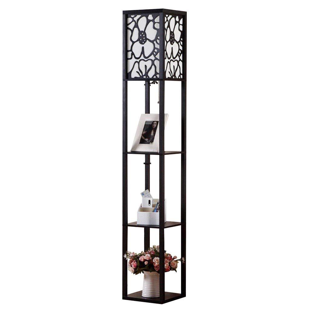 LPYMXIndoor Lighting, European Modern Minimalist Style Floor lamp Table (Color : Black)