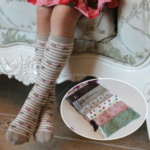 New spring kids printed colors long Sock Cotton sock Baby Kid Sock Knee High Long Fox Socks For Toddler wh-2087