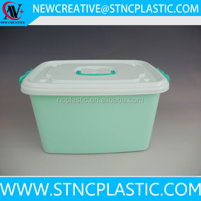 Wholesale Large Plastic Storage Container Lid Attached Box With