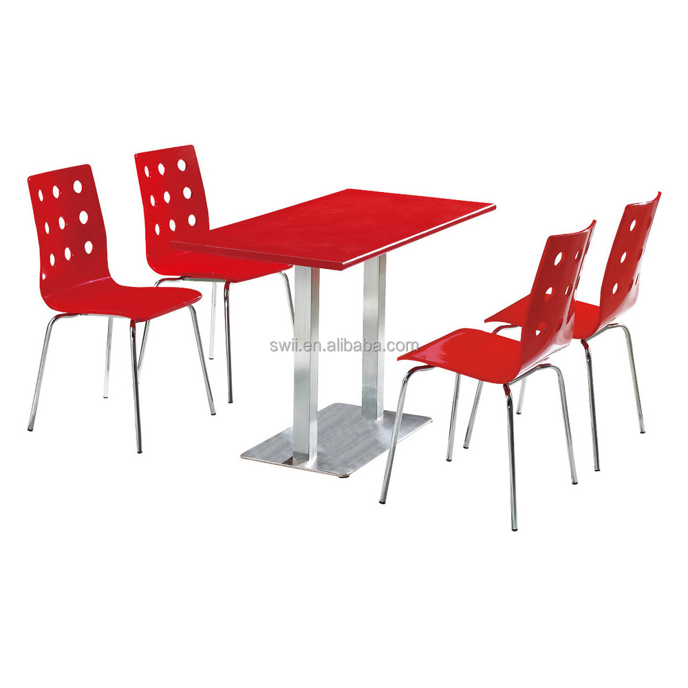 indoor wood restaurant furniture in low price table and chairs