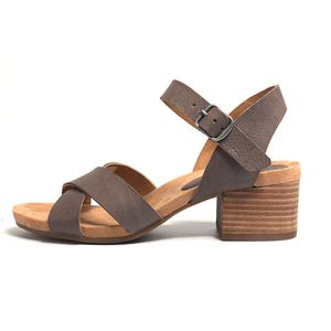 c6bd1710bfa2 leather strip sandal women block heels cork sole sandals shoes