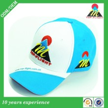 Top-flight 100% cotton twill 6-panel 3D embroidery baseball cap