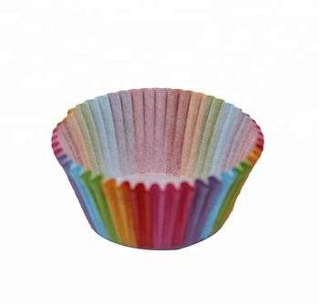 Wholesale 100pcs Set Pvc Bucket ColourFul Cake Paper Cup Baking Muffin Chocolate Glutinous Rice