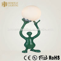 UK design adjustable battery operated mini table lamp green UL approval/ resin lamp