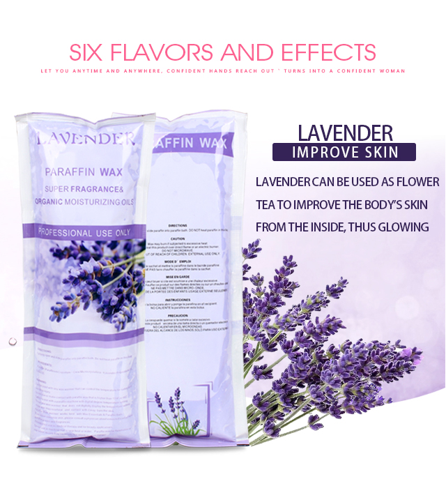 1LB Lavender Fully Refined Beauty Paraffin Wax for Body Beauty Use Paraffin Wax