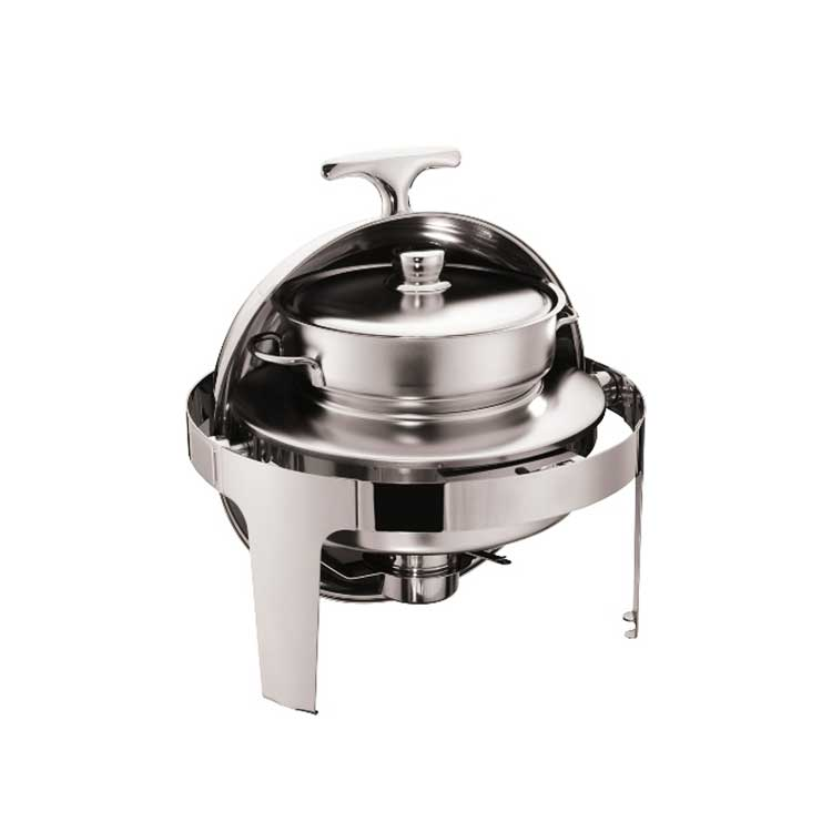 Tamaño completo Roll-top Acero inoxidable buffet chafer/buffet olla/placa caliente para buffet