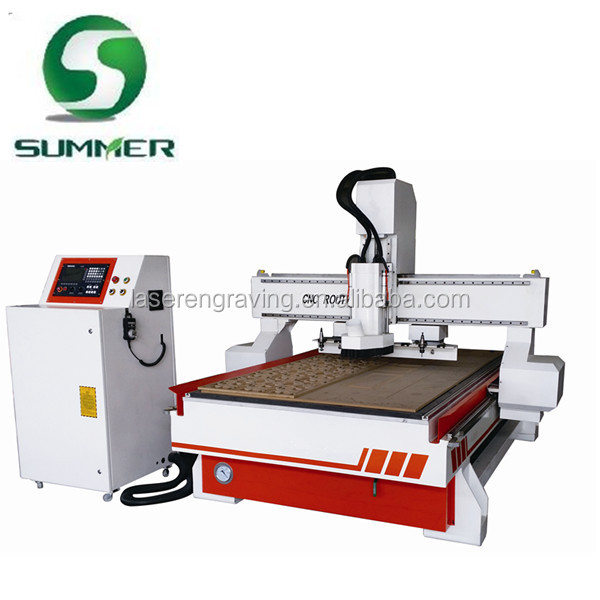 cnc atc router with heavy cast steel T frame machine body and vacuum table