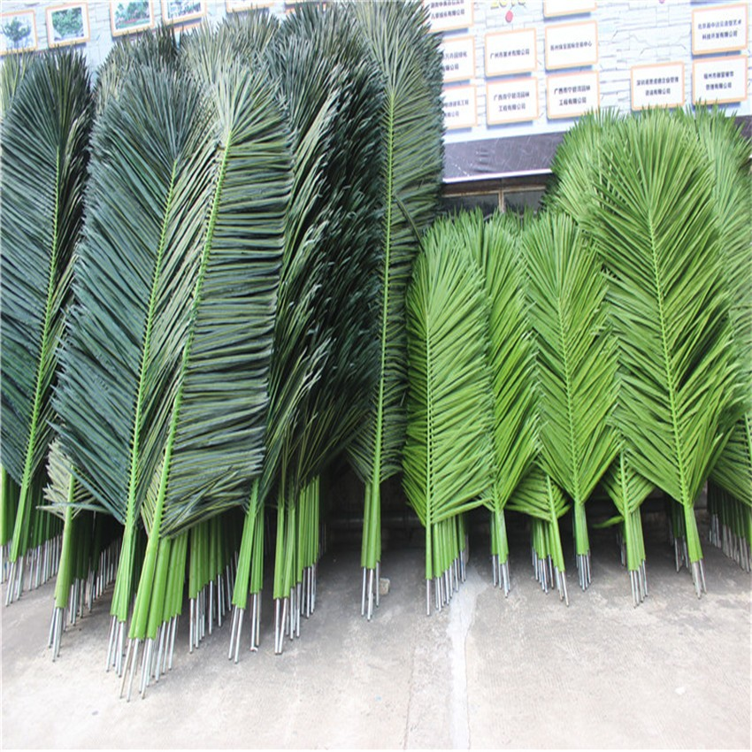Artificial Palm Tree Leaves Plastic Leaves Artificial Palm