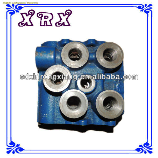 High quality shell mold iron cast machining multiway valve body OEM