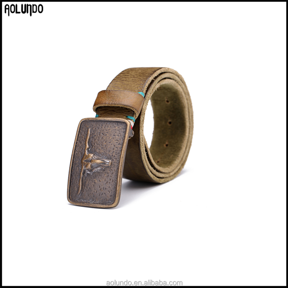 China manufacturer Automatic Buckle Leather wholesale belts / automatic belt / western belt