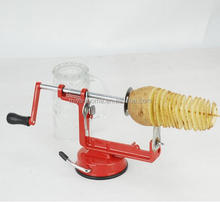 Hoge kwaliteit Manual rvs twisted potato apple slicer spiral Franse fry cutter