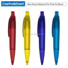Promotional High Quality Matte Texture Plastic Ballpoint Pen With Rubber Grip Custom Personalized Mini Ball Pen/ Fat Pen
