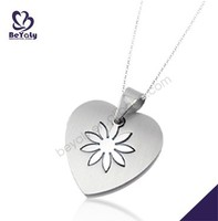 Flower heart fashion jewelry wholesale hip hop bling jewelry