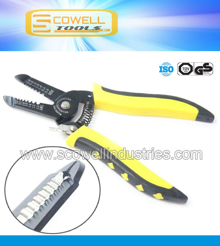 "Professional 7"" Cable wire stripper Nippers, Top Quality Optical Fiber Wire Stripping Pliers"