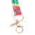 Manufacturer colorful top sale customized design sublimation lanyard with metal hook  no minimum order