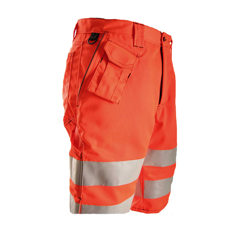 high visibility safety reflector <strong>orange</strong> cotton work pants