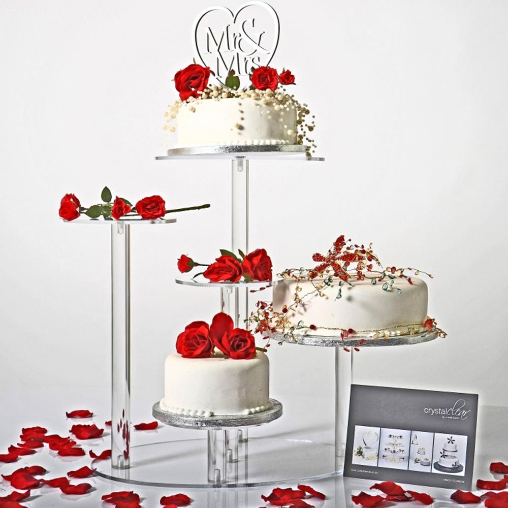 4 étages carré cup cake stand mariage fête d'anniversaire ...