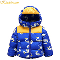 Kindstraum 2016 New Winter Baby Boys Printed Casual Duck Down Jacket High Quality Thick Outwear Warm