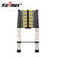 3.8m aluminum telescopic folding step ladder with EN131