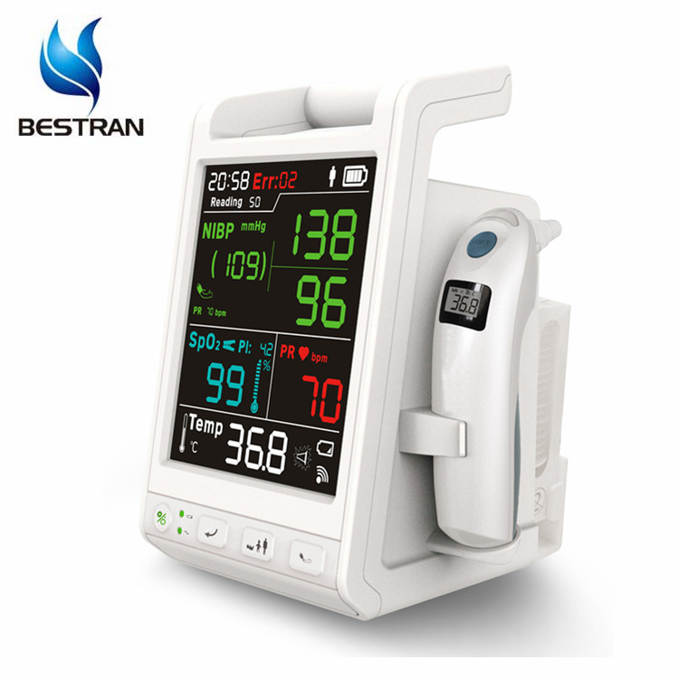 Bt-pm8d Hospital Multi-parameter Monitoring Equipment Icu Room Patient  Monitor Price With 15