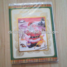 2013 new design Christmas card with 3D sticker