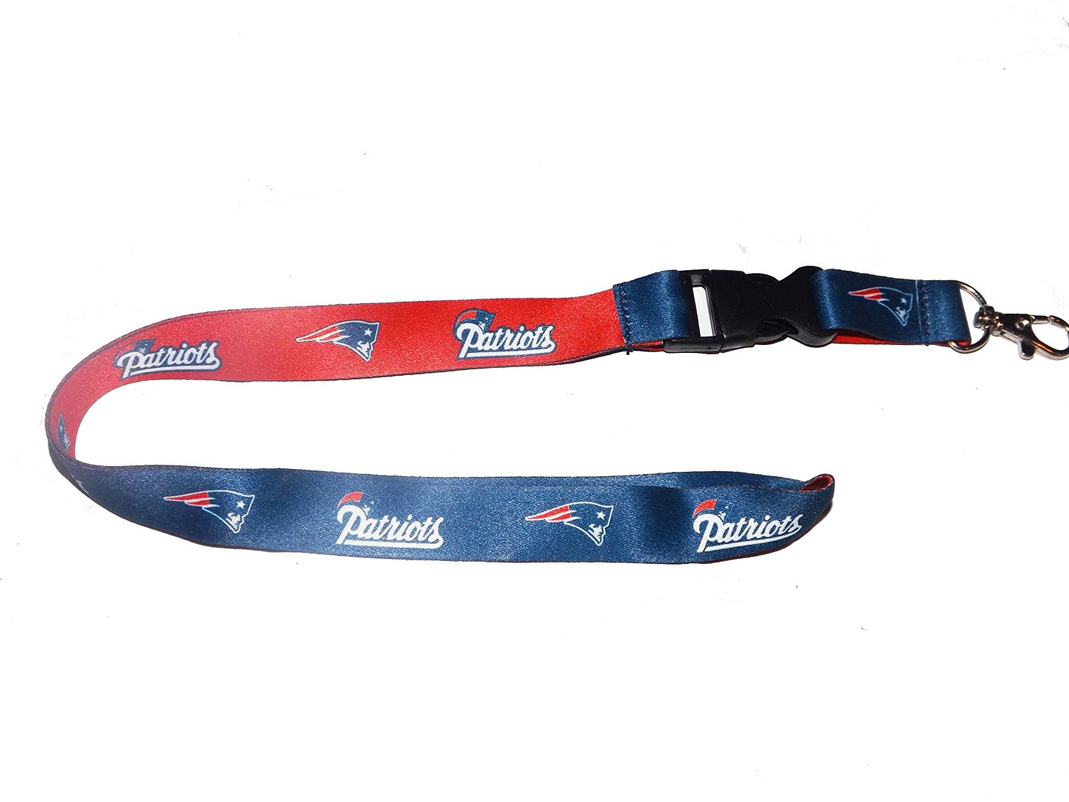 WinCraft NFL New England Patriots Black Lanyard w//Detachable Buckle 1