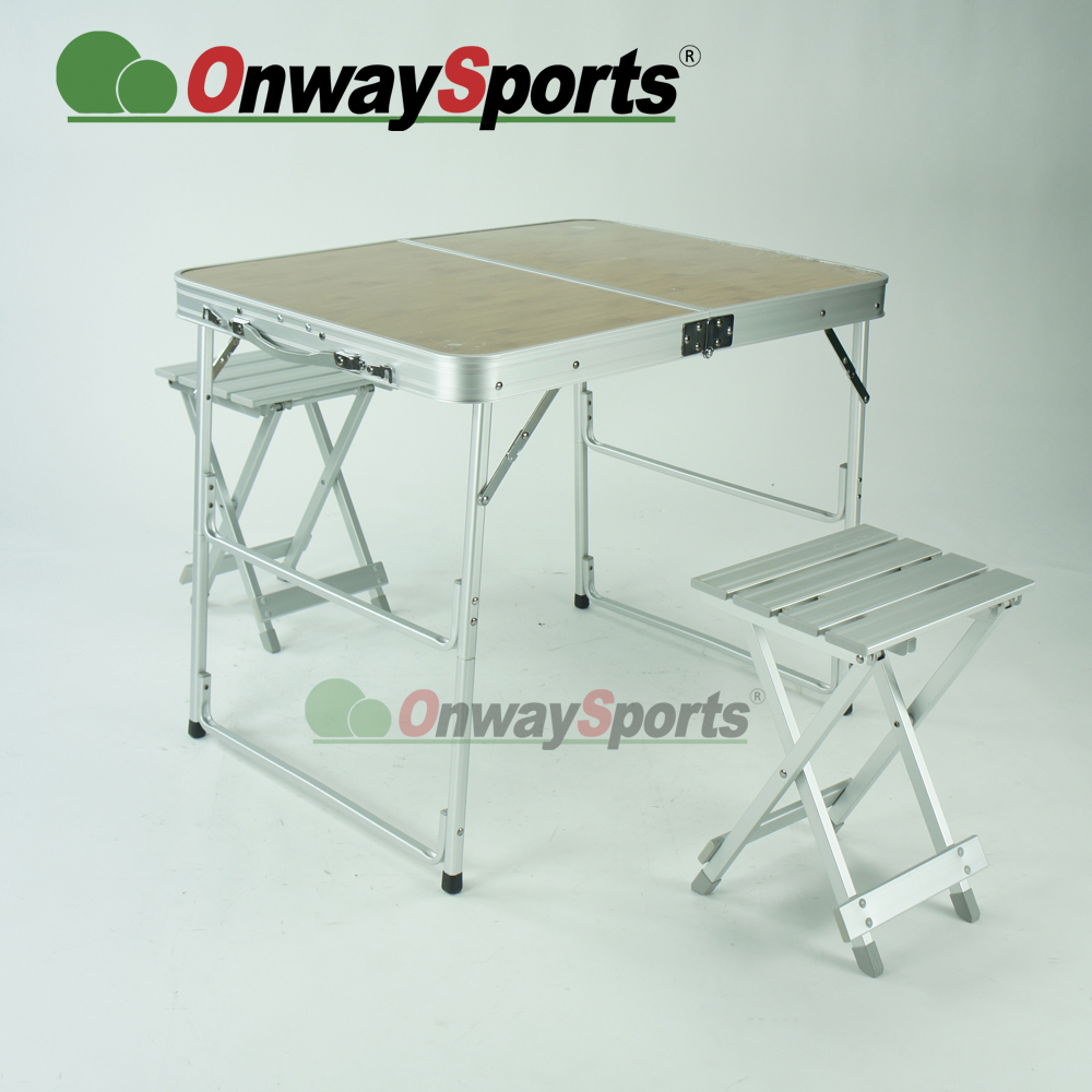 China supply factory price wood outdoor folding Table chair set together