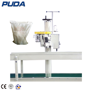 Automatic rice bag sewing filling and sealing machine