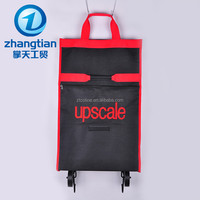 factory supply polyester cloth roll big bag with wheels