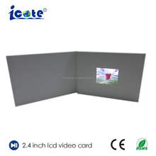 Cote LCD Transparent Display Video <span class=keywords><strong>Broschüre</strong></span> 2,4 Zoll Karte Für Business