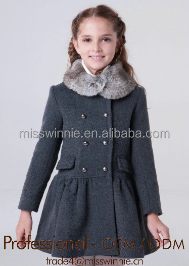 children long coats girls kids winter coats with fur collar, View ...