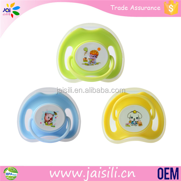 Natural Rubber Silicone Nipples Cute Baby Pacifier For Chewable