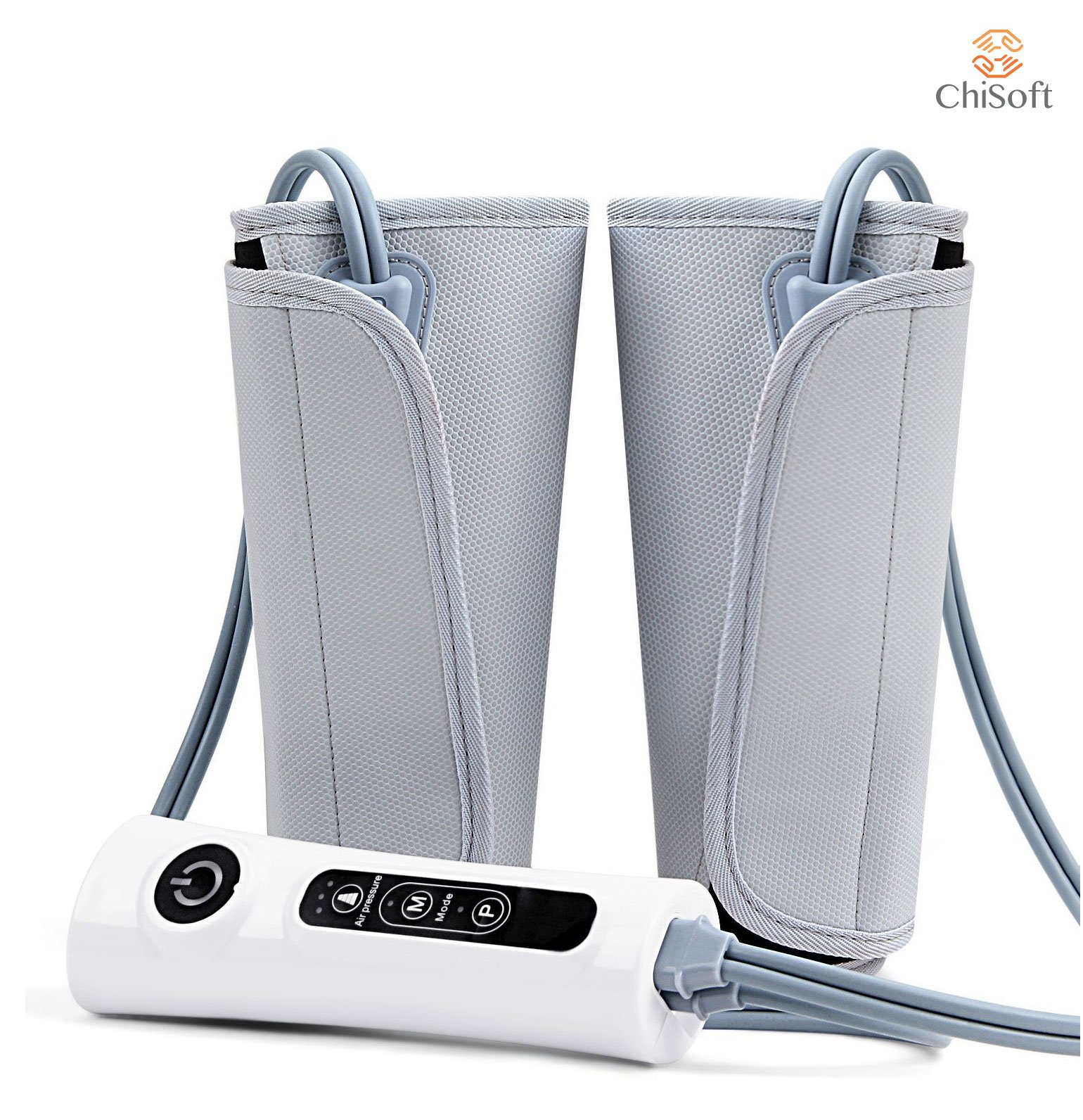 Air Compression Leg Wrap Massager CHISOFT Circulation Enhancing Boot Wraps Using Air Pressure Massage to Improve Circulation, Soothes Sore Muscles