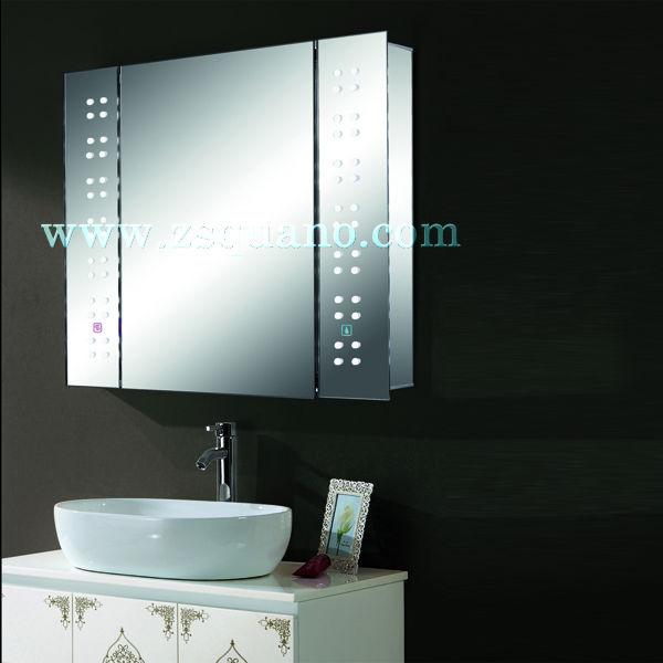 Luxury Bathroom Wash Basin Mirror Cabinet With Led Light