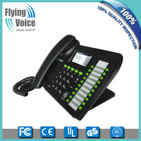Flyingvoice VoIP phone system 2 line sip phone, Business VoIP Phone IP652