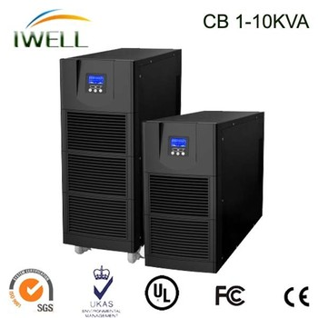 High Frequency 220V 10kvac 50hz 60hz Online 3 Phase Long Backup UPS Power System 6kvac