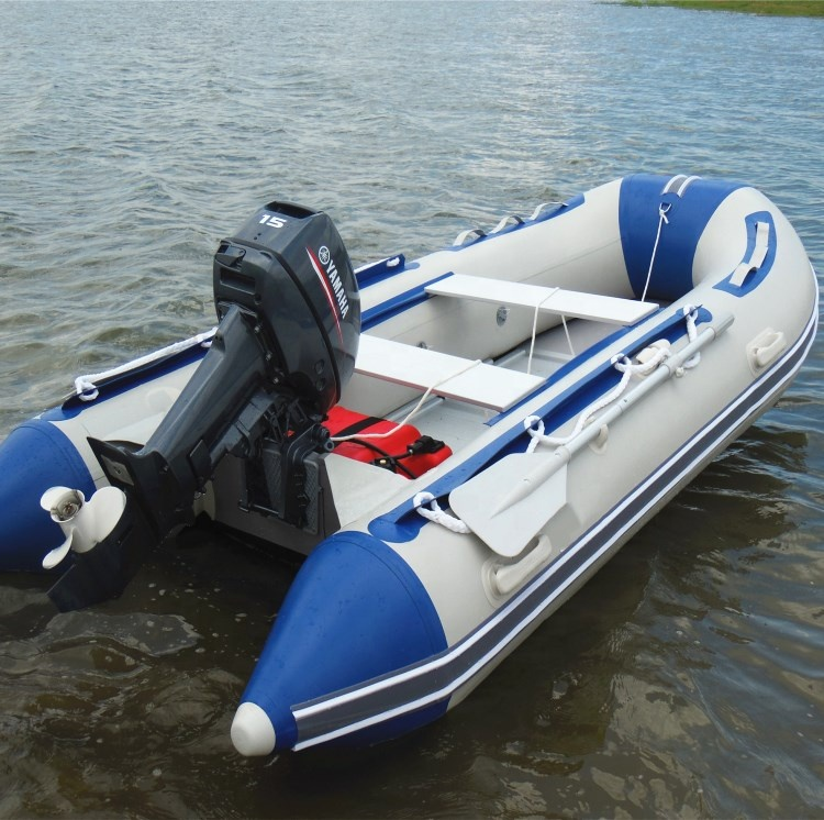1.2MM PVC Aluminum Floor Botes Inflatable Fishing <strong>Boat</strong> With Outboard Motor