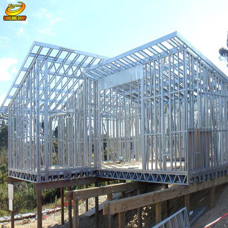 Einfachen Fertig Stahl Gebäude Vorgefertigte Licht Stahlrahmen Haus ...