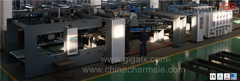 GIGA LX 608 automatic Computerized High Speed Carton Flexo Printing Slotting & Die Cutting Machine