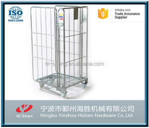 OEM high quality 3 sided container Rolling Cage Trolley