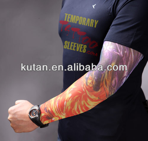 customize temporary men sleeve tattoo for promo