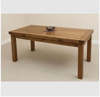 Solid wood oak furniture antique dining table for Restaurant Furniture