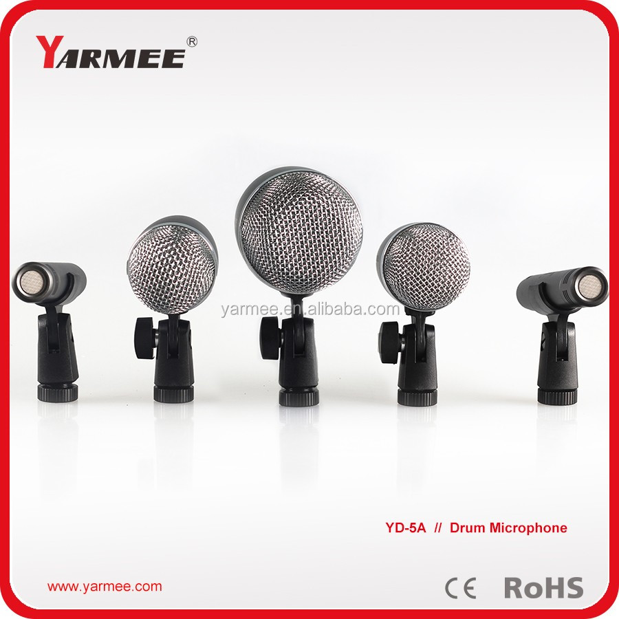 wireless 7pcs drum music singing microphone from china YARMEE