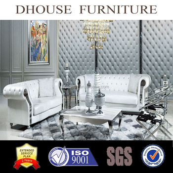 Brilliant Italian Neoclassical Decor Furniture Chesterfield White Leather Sofa Set 8033 View Luxury Furniture Sofa Set Dhouse Product Details From Foshan City Machost Co Dining Chair Design Ideas Machostcouk