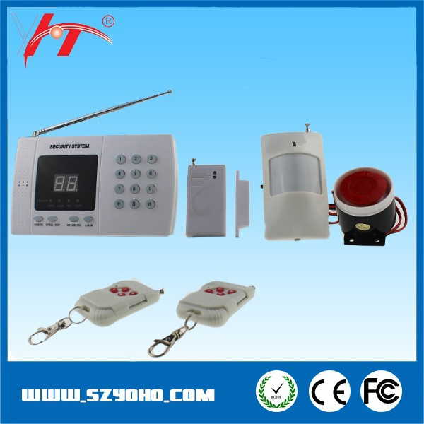 Economical auto-dial home alarm system wireless gsm security alarm manual with Auto dialer