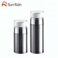 New Design Luxury AS/MS Aluminum 30ml 50ml Cosmetic Packaging Airless Bottle