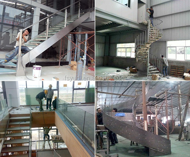 Modern Interior Wood Floating Stairs Supplier From China