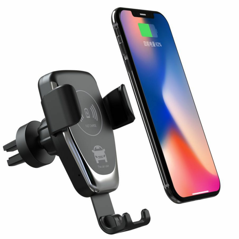 10W Fast Charging Mount Wireless Car Charger for Samsung Galaxy S10 for iPhone